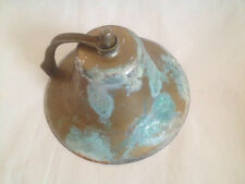 Large Vintage Brass Ship's Nautical Bell Perko ? Nice Aged Patina !