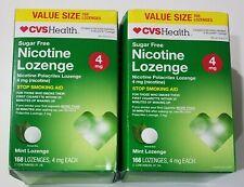 2 Lot CVS Health Nicotine Lozenges, 4 MG, Mint flavor, 168 each, 336 total, 9/19