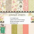 12 Sheets 6 X 6 Dovecraft Sweet Paris 150 GSM Patterned Craft Papers