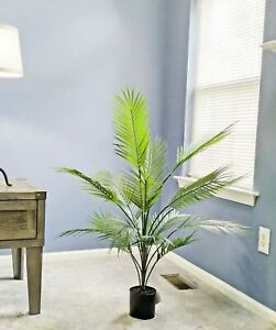 """Artificial Palm tree in plastic pot (36""""H)"""