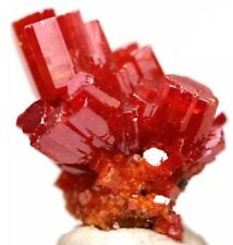 Vanadinite Crystal Cluster Mineral Specimen Geronimo Mine AZ w/ Case & ID card