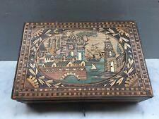 Coffret en marqueterie de paille / Boite a bijoux / Coffret Napoléon III /BOULLE