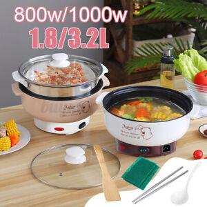 Electric Cooker Hotpot Cooking Pot Steamer Noodles Rice Soup Heat Pan Dumpling