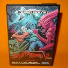 VINTAGE 1992 SEGA MEGA DRIVE SPLATTERHOUSE 2 16-BIT CARTRIDGE VIDEO GAME PAL