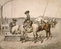 Amoor Cossack Frederic Remington Horseback Painting Print Wall Art Small 8x10