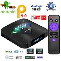 Smart X10 PRO TV Box 4G+32GB S905X2 Quad Core WIFI HDMI Android 9.0 Media Player