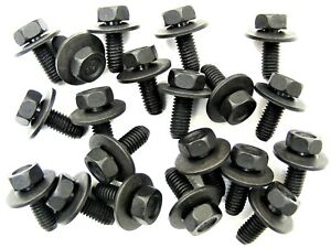 Body Bolts- M6-1.0 x 16mm Long- 17mm Washer- 10mm Hex- 20 bolts- J#180