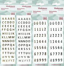2 Stück einzelne Wachs - Buchstaben oder Zahlen/Gold oder Silber/8mm Höhe/Top