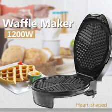 Rotating Waffle Maker Machine Iron Rotary Belgian Quad Stainless Steel Kitchen