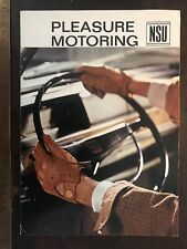 NSU Pleasure UK Brochure Prinz 4 1000 110 TT TTS Sport Coupe Wankel Spider Ro80