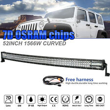 3ROW 52Inch 1566W OSRAM CURVED LED Light Bar Offroad Work Lamp Spot Flood Combo