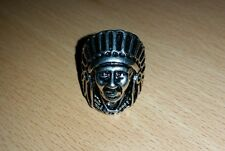 Indian Chief  Finger Stainless Steel Rings Retro