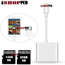 SD Memory Card Reader Adapter For Lightning Apple IPHONE IPAD Support Up To 64G