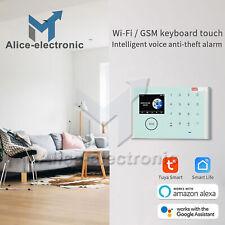 Wireless WiFi+Gsm+Gprs Network Intelligent Home Alarm System Kit Tuya App B2Ae