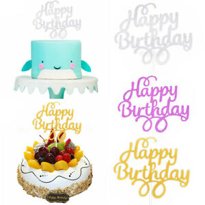 Happy Birthday Cake Topper Pick Topper Glitter Party Favour Gift🔥DIYDecoration