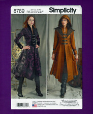 Costume Coat Sewing Pattern~Buckle or Button Bodice (14-22) Simplicity 8769