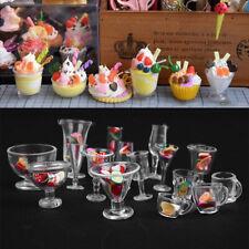 F0B6 Creative Mini Wine Cups 17pcs/Set Dollhouse Miniature Cups Clear