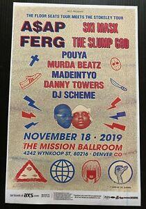 A$AP FERG & Ski Mask The Slump God 2019 Denver, Colorado Original Promo Poster