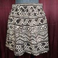 NEW BCX Black White Geometric Mini Skirt Womens M NWT Closet53***