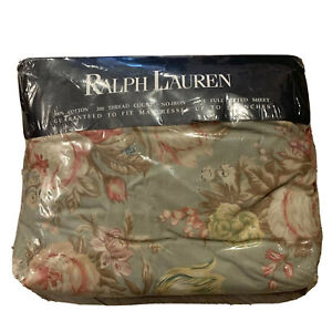 Ralph Lauren Charlotte Rose Deep Premium Full Fitted Sheet French Country NIOP