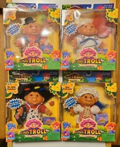 NIB Playmates 2001 Totally Troll Series 2 LOT OF 4 Trolls Dolls