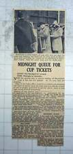 1951 Midnight Queue For Cup Tickets At Blackpool Fc Ground