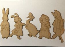 5 Set Wooden Puddle Duck And Peter Rabbit Mdf Shape Blanks Characters
