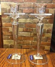 2 Villeroy & Boch Splendor di tavola Glass Candle Holders Handmade Slovenia Nib