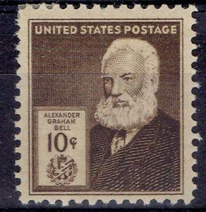USA.  1940. 10 cent brown. Alexander Graham Bell. MNH. Scott 893.  at $11.00.