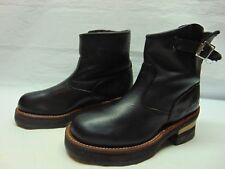 Hawkins Womens 6.5 B Black Heavy Duty Leather Ankle Motorcycle Biker Ankle Boots