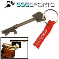 SSG Key Shaped Silver Bottle Opener Ring Metal Bar Beer Tool Keyring Keyring