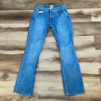 Vintage Guess Jeans Women's Size 29 Mid Rise Flare Medium Wash embroidered patch