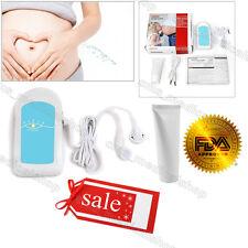 Azul de Cielo Bolsillo de frecuencia cardíaca fetal Doppler, Escucha corazón del bebé, gel libre, BabySound A