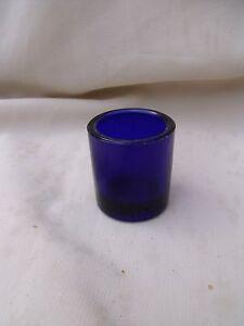 COBALT BLUE GLASS LINER INSERT Salt / Mustard / Pepper 33mm dia x 35mm tall