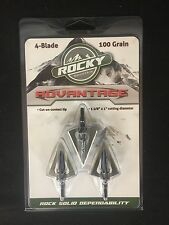 Rocky Mountain Advantage 4 Blade 100 Grain Fixed Broadhead 3 Pack BRAND NEW