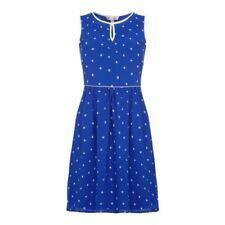 Vestiti da donna blu fantasia pois taglia 42
