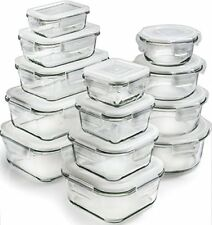 13 Piece Glass Storage Containers with Lids  Food Airtight With Meal Prep Lunch