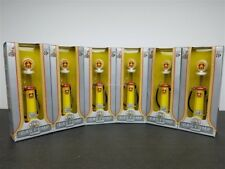 """LOT OF 6 DIXIE CYLINDER GAS PUMP 5 1/2"""" TALL DIE CAST 1/18 ROAD SIGNATURE 98600"""