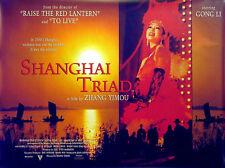 SHANGHAI TRIAD  1995 Gong Li, Zhang Yimou CHINA UK QUAD POSTER
