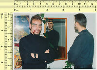 052 1980's Guys Face Paint Masked Mask Men Mirror Reflection Abstract old photo