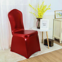 Shiny Spandex Solid Chair Cover Wedding Banquet Party Slipcovers Home Adornment