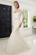 Roland Joyce Wedding Dress / Size 10 / Style 68008 / Long Sleeve