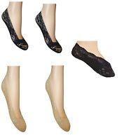 2 PAIR Women Girls  Invisible Footlets  Socks Luxury Low Cut Footsies-UK SELLER
