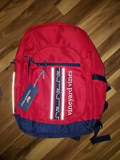 NWT VINEYARD VINES BACKPACK SCHOOL/COLLEGE/ANYWHERE DELUXE BAG RED/NAVY/WHITE