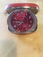 Vintage Westclox Travel Ben Alarm Clock With Red Case
