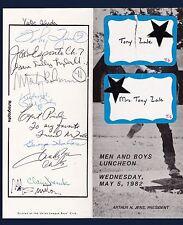 1982 Union League Boys Club Luncheon signed program George Halas & Fahey Flynn