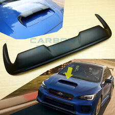 Unpainted Matte Black Front Hood Scoop Trim Fit Subaru WRX STI 4th Levorg 15-19