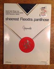 Vintage Jc Penney Gaymode Sheerest Flexxtra Pantyhose, Navy, Long