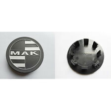 SET 4 CAPS TAPACUBOS C037 65mm para MAK RENNEN 8.5x20 5x110 ICE BLACK VW