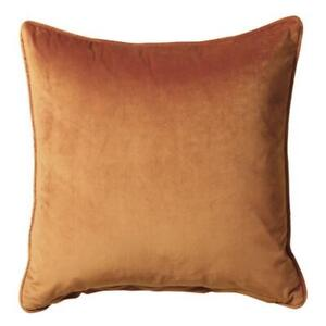 Soft French Velvet Feel Cushion Cover or Filled Tan Terracotta 55cm x 55cm
